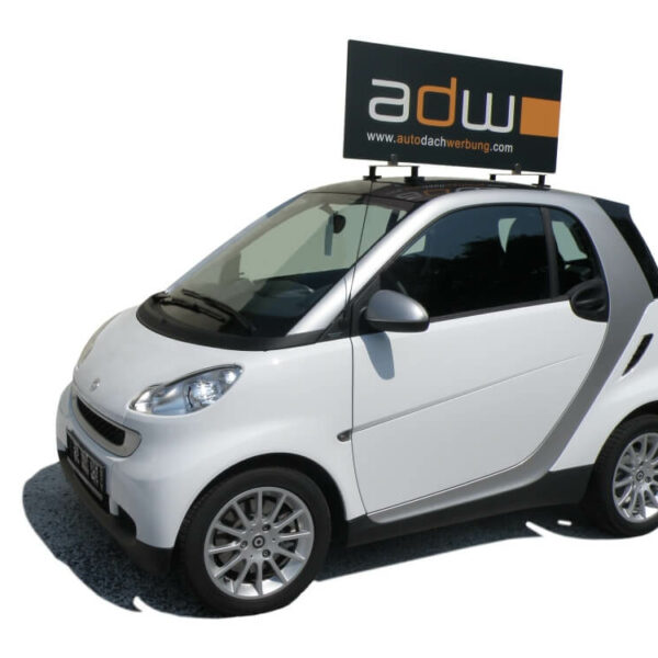 Auto Dach Werbung